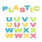Alphabet stylized colorful plastic Stock Images