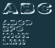 Alphabet stylized liquid transparent effect Stock Photography