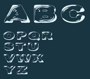Alphabet stylized liquid transparent effect Royalty Free Stock Photos