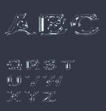 Alphabet stylized liquid transparent effect Royalty Free Stock Image