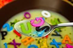 Alphabet-Suppe lizenzfreies stockfoto