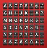 Alphabet sur l'agenda de papier Illustration de Vecteur