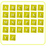 Alphabet sur la note Photo stock