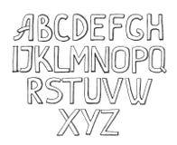 Alphabet sur le fond blanc Photographie stock libre de droits