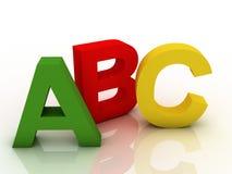 Alphabet sur un coloré Images libres de droits