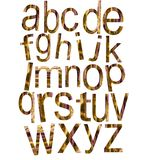 The alphabet. Surrounded by white background stock illustration