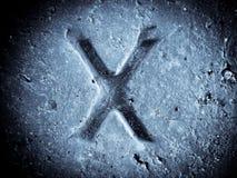 Alphabet symbol - letter X. Alphabet symbol - grunge hand draw paint royalty free stock photography