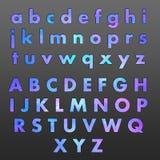 Alphabet-Symbole mit Sternen Stockfotos