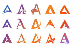 Alphabet symbols  and elements of A letter Royalty Free Stock Photography