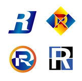 Alphabet Symbols And Elements Of Letter R, such a logo Royalty Free Stock Photography