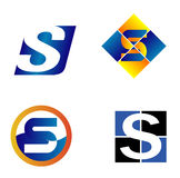 Alphabet Symbols And Elements Of Letter S, such a logo Royalty Free Stock Photos