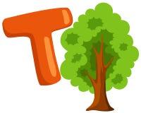Alphabet T for tree stock illustration
