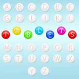 Alphabet and tablets Royalty Free Stock Photos