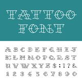Alphabet - Tattoo Vector Font. Stock Photo