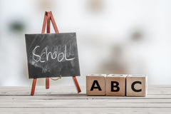 Alphabet teaching in the school Stock Images