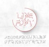 Alphabet Text Design Stock Image