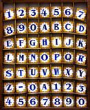 Alphabet Tiles Royalty Free Stock Photos