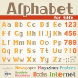 Alphabet for title Stock Photos
