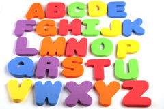 Alphabet from A to Z Stock Photo