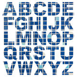 Alphabet a to z. Made from mosaic tiles picture Royalty Free Stock Photo