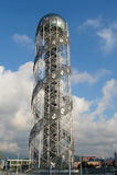 Alphabet tower in Batumi, Georgia Stock Photography