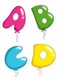 Alphabet - toy balloons 1 Stock Photos