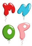 Alphabet - toy balloons 4 Stock Photos