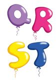 Alphabet - toy balloons 5 Royalty Free Stock Photos