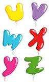 Alphabet - toy balloons 6 Stock Photography
