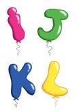 Alphabet toy balloons 3 Royalty Free Stock Image