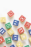Alphabet toy blocks. Royalty Free Stock Photo