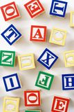 Alphabet toy blocks. Stock Photography