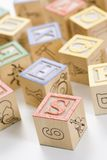 Alphabet toy blocks. Royalty Free Stock Photos