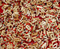 Alphabet toys Stock Images