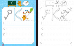 Alphabet Tracing Worksheet Royalty Free Stock Images