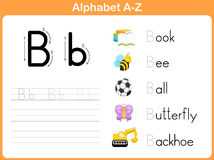 Alphabet Tracing Worksheet. Writing A-Z Royalty Free Stock Photos