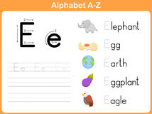 Alphabet Tracing Worksheet Stock Photo