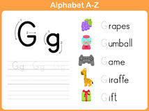 Alphabet Tracing Worksheet Royalty Free Stock Photos