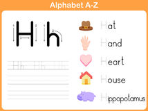 Alphabet Tracing Worksheet Stock Image