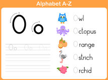 Alphabet Tracing Worksheet stock vector. Illustration of literacy ...