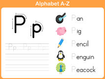 Alphabet Tracing Worksheet Stock Images