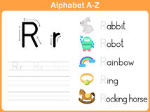 Alphabet Tracing Worksheet Royalty Free Stock Image