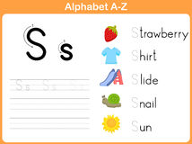 Alphabet Tracing Worksheet Stock Photography