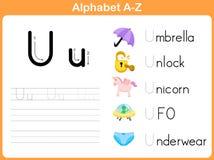 Alphabet Tracing Worksheet Royalty Free Stock Image