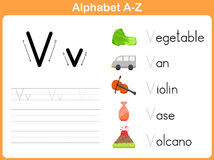 Alphabet Tracing Worksheet Royalty Free Stock Photo
