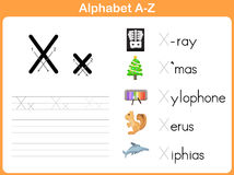 Alphabet Tracing Worksheet Royalty Free Stock Photography
