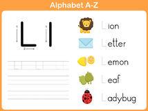Alphabet Tracing Worksheet: Writing A-Z Royalty Free Stock Images
