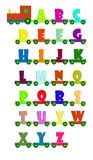 Alphabet train Royalty Free Stock Images