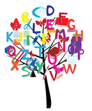 Alphabet tree royalty free illustration