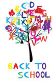 Alphabet tree Stock Images